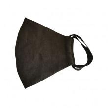 Maseczka antywirusowa na twarz len/bawełna BLACK-FLAX  rozmiar M