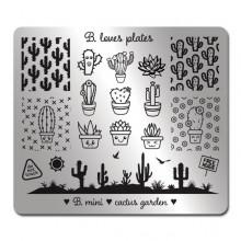 Płytka do stempli B.mini - cactus garden