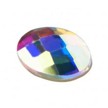 Wielokolorowe cyrkonie do paznokci w kształcie owalu 6 x 4 mm
