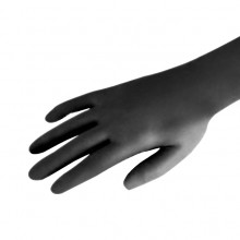 Rękawiczki nitrylowe bezpudrowe czarne L 20 szt.